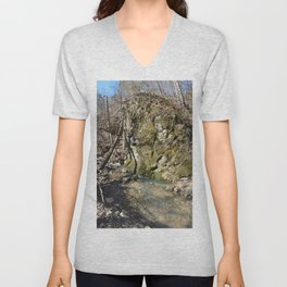 Alone in Secret Hollow with the Caves, Cascades, and Critters, No. 11 of 21 Unisex V-Neck