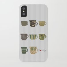 I {❤} Coffee iPhone X Slim Case
