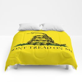 "Gadsden ""Don't Tread On Me"" Flag, High Quality image Comforters"