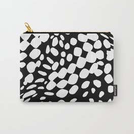 DOTS DOTS BLACK AND WHITE DOTS PATTERN Carry-All Pouch