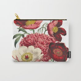 Peony, Peony Art Print, Peony Print, Floral Decor, Illustration, Natural History, Peony Poster, Flower Species, Flower Prints, Floral, Floral Art, Flowers, Peonies, Flower, Biology, Nature, Plants, Flower Petals Carry-All Pouch