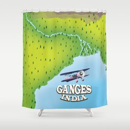 River Ganges India Shower Curtain