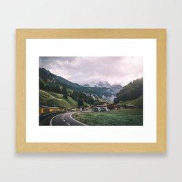Swiss Train Ride Framed Art Print