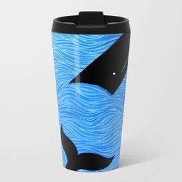 Whale in the Sea Metal Travel Mug