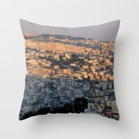 israel Throw Pillows featuring Jerusalem Living in Israel by Rachel J