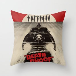 Death Proof Movie Poster Written And Directed By Quentin Tarantino Spanish Version Artwork, Posters, Throw Pillow
