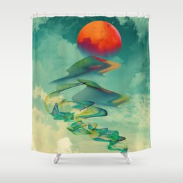 Reach the Sun! Shower Curtain