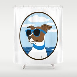 Cool Doggy Style Shower Curtain