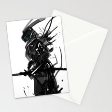 Black and White Tech Zero Stationery Cards