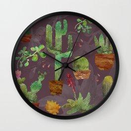 Cozy Cactus Wall Clock