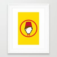 fez Framed Art Prints featuring Man With Fez by Evan Ayres