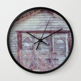 Rustic Old Shed Wall Clock