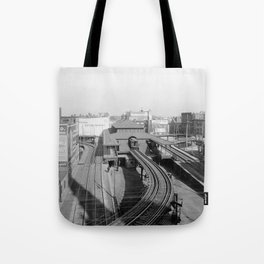 Dudley Station on the Boston Elevated Railway 1904 Tote Bag
