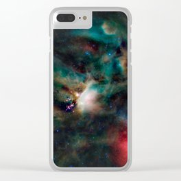 Spacial / Rho Ophiuchi Clear iPhone Case