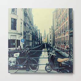 Coffee street- Amsterdam Metal Print