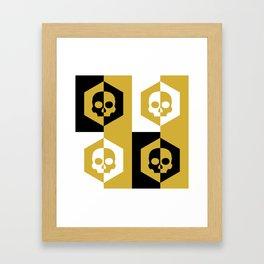 Honey Skulls Duality V3 Framed Art Print