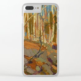 Tom Thomson Birches 1915 Canadian Landscape Artist Clear iPhone Case