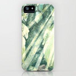 Acuarella wood iPhone Case