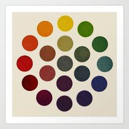 'Parsons' Spectrum Color Chart' 1912, Remake 2 (enhanced) Art Print