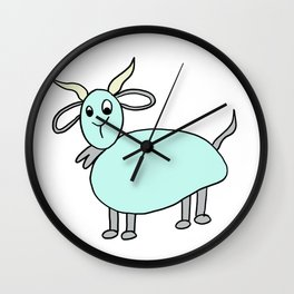 Hand drawn funny looking goat Wall Clock