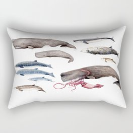 Deep sea whales Rectangular Pillow