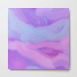 Modern abstract teal magenta violet watercolor pattern Metal Print
