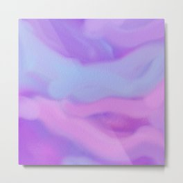 Modern abstract teal magenta violet watercolor pattern Metal Print