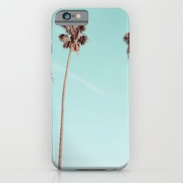 Palm Trees Teal Gold iPhone Case