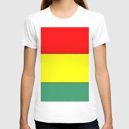 flag of bolivia 3 -bolivian,boliviano,bolivian,Sucre, La Paz. T-shirt