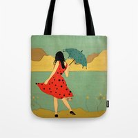 lonely Tote Bags featuring Lonely by Danelys Sidron