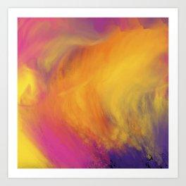 Abstract rainbow pattern Art Print