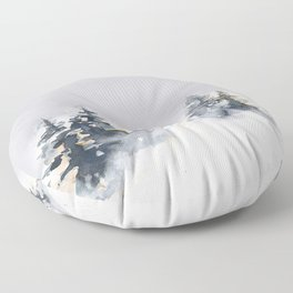 Watercolor Pine Floor Pillow