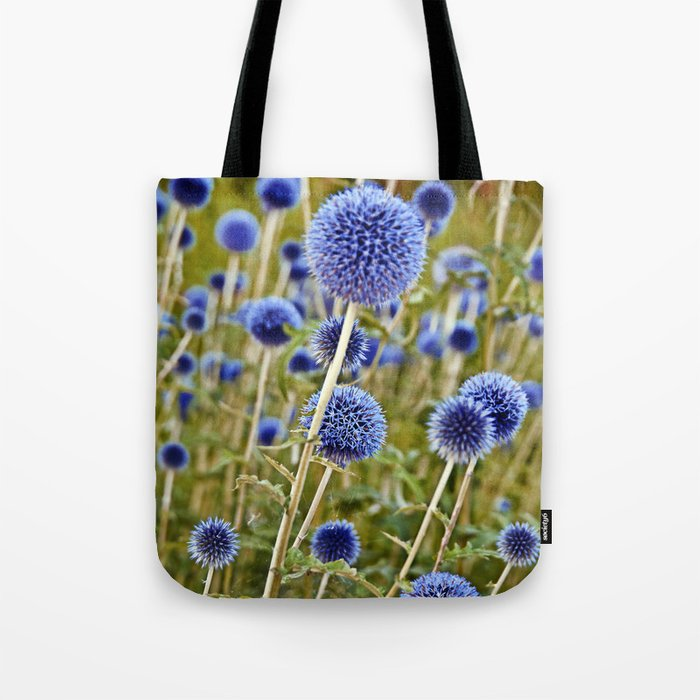 BLUE WILD THISTLE Tote Bag