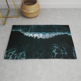 Wave in Motion - Ocean Photography Rug