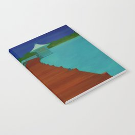 Maldives Travel Poster Notebook
