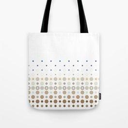 Dot Escalation // Taupe + Blues Tote Bag
