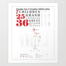 Family 3 Art Print
