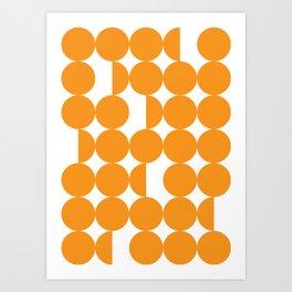 Orange dots Art Print