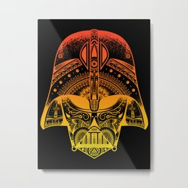 Mandala Darth Vader - Sunset. The big baddy from StarWars™.  Metal Print