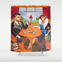 Mystery on the Orient Express Shower Curtain