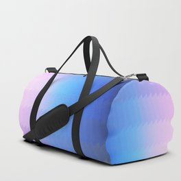 blue pink ombre color gradient abstract pattern Duffle Bag