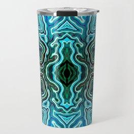 Abstract #1 - III Blues Travel Mug