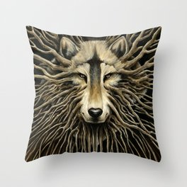 Wolf Roots Throw Pillow