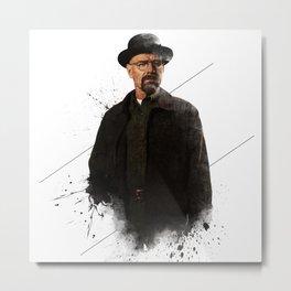 Mr. White Metal Print