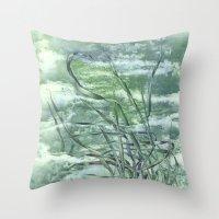 grass Throw Pillows featuring GRASS by AMULET