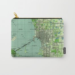 Vintage map of Sarasota Florida (1944) Carry-All Pouch