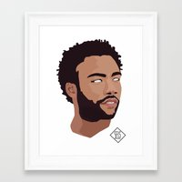 childish gambino Framed Art Prints featuring Childish Gambino by SELS - Sebastian Emilio Luna Sevilla