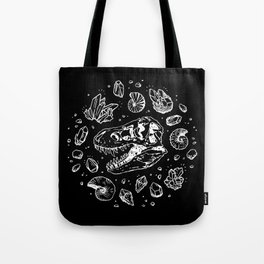 Geo-rex Vortex | White Tote Bag
