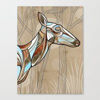 elk Canvas Prints featuring Elk by dchristo