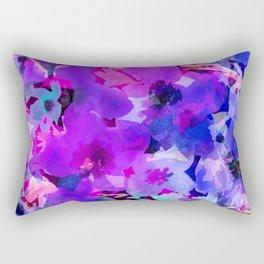 Blue Poppy Jungle Rectangular Pillow